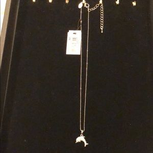 Cookie lee genuine crystal dolphin necklace